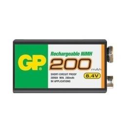 Nabíjecí baterie GP NiMH 200 mAh 9V