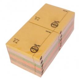 Samolepící bloček 76x76x100 ve 4. pastelových bar. D.RECT