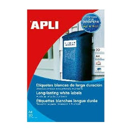 Polyesterové etikety, voděodolné APLI A4 70x37 20li průhledné