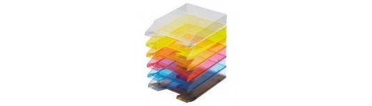 Zásuvky, stojany na časopisy-dokumenty+uzamykatelný box